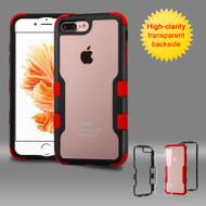 TUFF Vivid Hybrid Armor Case for iPhone 8 Plus / 7 Plus - Black Red