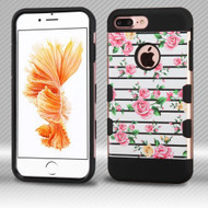 Military Grade Certified TUFF Trooper Dual Layer Hybrid Armor Case for iPhone 8 Plus / 7 Plus - Fresh Roses