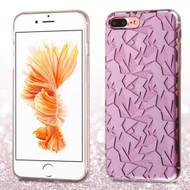 Graphic Fusion Case for iPhone 8 Plus / 7 Plus - 3D Geometry Purple