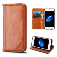 Mybat Genuine Leather Wallet Case for iPhone 8 / 7 - Brown