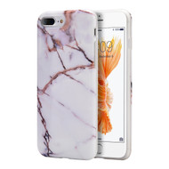 Marble TPU Case for iPhone 8 Plus / 7 Plus - White Gold