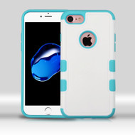 Military Grade Certified TUFF Merge Hybrid Armor Case for iPhone 8 / 7 - White Teal