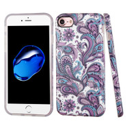 Premium Graphic Rubberized Protective Gel Case for iPhone 8 / 7 - Persian Paisley