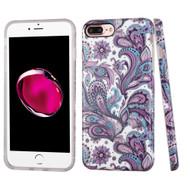 Premium Graphic Rubberized Protective Gel Case for iPhone 8 Plus / 7 Plus - Persian Paisley
