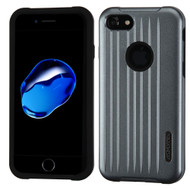 Carry On Luggage Design Hybrid Armor Case for iPhone 8 / 7 - Slate Blue