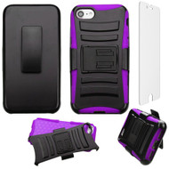 *SALE* Advanced Armor Hybrid Kickstand Case with Holster and Tempered Glass Screen Protector for iPhone 8 / 7 - Purple