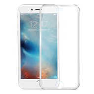 HD Curved Coverage Tempered Glass Screen Protector with Titanium Alloy Bezel for iPhone 6 Plus / 6S Plus - Silver