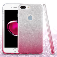 Full Glitter Hybrid Protective Case for iPhone 8 Plus / 7 Plus - Gradient Pink