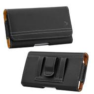 Premium Horizontal Leather Pouch Case - Black 32579