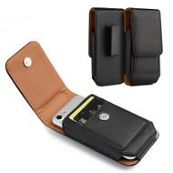 *SALE* Premium Vertical Leather Pouch Case - Black