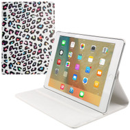*FINAL SALE* 360 Degree Smart Rotary Leather Case for iPad Pro 9.7 inch - Colorful Leopard