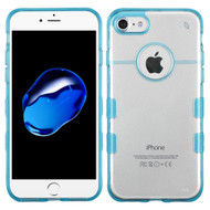 Co-Molded Impact Absorbing Transparent Case for iPhone 8 / 7 - Blue