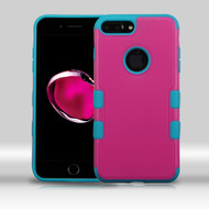 Military Grade TUFF Merge Hybrid Armor Case for iPhone 8 Plus / 7 Plus - Hot Pink Teal