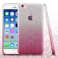Full Glitter Hybrid Protective Case for iPhone 6 / 6S - Gradient Pink