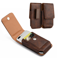 *SALE* Premium Vertical Leather Pouch Case - Brown 24481
