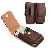 *SALE* Premium Vertical Leather Pouch Case - Brown 24481