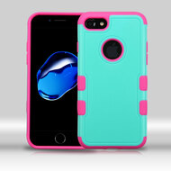 Military Grade Certified TUFF Merge Hybrid Armor Case for iPhone 8 / 7 - Teal Hot Pink