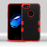 Military Grade Certified TUFF Merge Hybrid Armor Case for iPhone 8 / 7 - Black Red