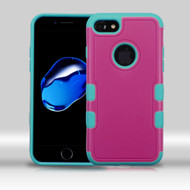 Military Grade Certified TUFF Merge Hybrid Armor Case for iPhone 8 / 7 - Hot Pink Teal