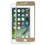 Blue Light UV Filter 3D Curved Soft Edge Tempered Glass Screen Protector for iPhone 8 / 7 - Gold