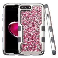 TUFF Vivid Mini Crystals Hybrid Armor Case for iPhone 8 Plus / 7 Plus - Pink