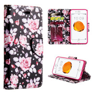 Executive Graphic Leather Wallet Case for iPhone 8 Plus / 7 Plus - Moon Light Rose