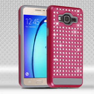 Luxury Bling Diamond Hybrid Case for Samsung Galaxy On5 - Hot Pink