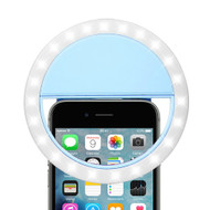 Portable Smartphone Selfie LED Ring Light - Blue