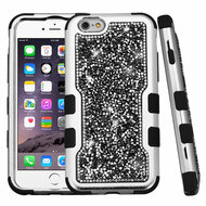TUFF Vivid Mini Crystals Hybrid Armor Case for iPhone 6 Plus / 6S Plus - Black