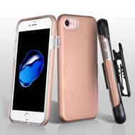 TUFF Contempo Hybrid Armor Case with Holster for iPhone 8 / 7 - Rose Gold