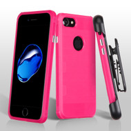 Military Grade Certified TUFF Cosmic Space Premium TPU Case with Holster for iPhone 8 / 7 - Hot Pink