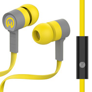 *Sale* HyperGear Low Ryder Earphones with Mic - Yellow Grey