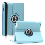 *SALE* Smart Rotary Leather Case for iPad 2, iPad 3 and iPad 4th Generation - Baby Blue