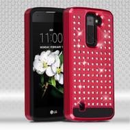 Luxury Bling Diamond Hybrid Case for LG K7 / Escape 3 / Treasure LTE / Tribute 5 - Red