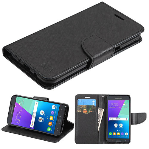 Diary Leather Wallet Case for Samsung Galaxy J3 (2017) / J3