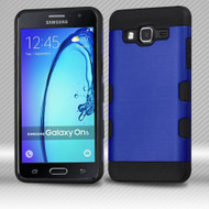 Military Grade Certified TUFF Trooper Dual Layer Hybrid Armor Case for Samsung Galaxy On5 - Brushed Blue