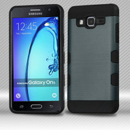 Military Grade TUFF Trooper Dual Layer Hybrid Armor Case for Samsung Galaxy On5 - Brushed Slate Blue
