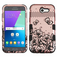 Military Grade TUFF Case for Samsung Galaxy J3 (2017) / J3 Emerge / J3 Prime / Amp Prime 2 / Sol 2 - Lace Rose Gold