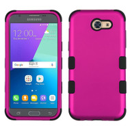 Military Grade TUFF Hybrid Case for Samsung Galaxy J3 (2017) / J3 Emerge / J3 Prime / Amp Prime 2 / Sol 2 - Hot Pink