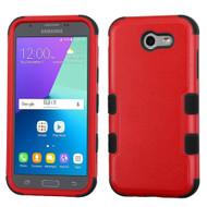 Military Grade TUFF Hybrid Case for Samsung Galaxy J3 (2017) / J3 Emerge / J3 Prime / Amp Prime 2 / Sol 2 - Red