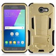 Transformer Hybrid Armor Case for Samsung Galaxy J3 (2017) / J3 Emerge / J3 Prime / Amp Prime 2 / Sol 2 - Gold