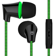 *SALE* HyperGear Sound Wavez Braided Stereo Earphones with In-Line Microphone - Green