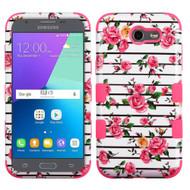 Military Grade TUFF Case for Samsung Galaxy J3 (2017) / J3 Emerge / J3 Prime / Amp Prime 2 / Sol 2 - Pink Fresh Roses
