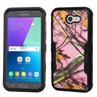 Military Grade TUFF Case for Samsung Galaxy J3 (2017) / J3 Emerge / J3 Prime / Amp Prime 2 / Sol 2 - Pink Oak Camouflage