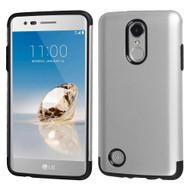 *Sale* Slim Armor Multi-Layer Hybrid Case for LG Aristo / Fortune / K8 2017 / Phoenix 3 - Silver