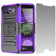 Advanced Holster Case + Tempered Glass for Samsung Galaxy J3 (2017) / J3 Emerge / J3 Prime / Amp Prime 2 - Purple
