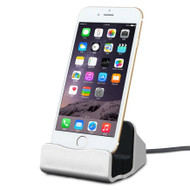 Lightning Charge and Sync Dock Stand for iPhone and iPod - Silver