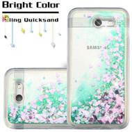 Quicksand Glitter Transparent Case for Samsung Galaxy J3 (2017) / J3 Emerge / J3 Prime / Amp Prime 2 / Sol 2 - Green
