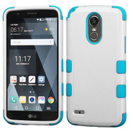 *SALE* Military Grade Certified TUFF Hybrid Armor Case for LG Stylo 3 / Stylo 3 Plus - White Teal