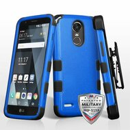 Military Grade Certified TUFF Hybrid Armor Case with Holster for LG Stylo 3 / Stylo 3 Plus - Blue